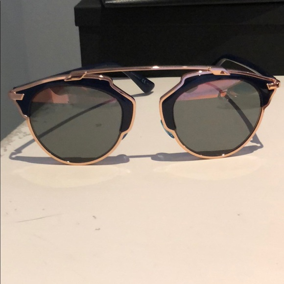 5a8e30726f85 Dior Accessories - Dior So Real Rose Gold Blue Rose Gold Sunnies